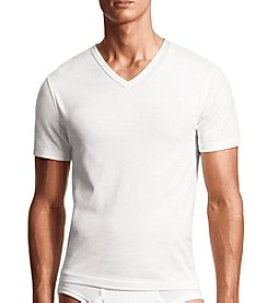 Calvin Klein Men's 2-Pack Cotton Stretch Short Sleeve V-Neck Tee