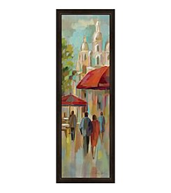 Greenleaf Art A Stroll in Paris Framed Canvas Art