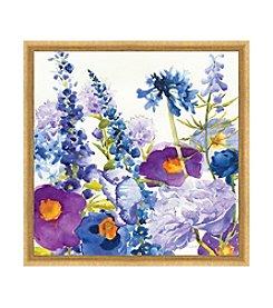 Greenleaf Art Blue and Purple Mixed Garden Framed Canvas Art