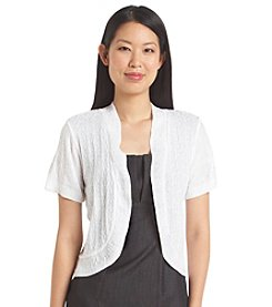 Notations® Solid Open Front Shrug