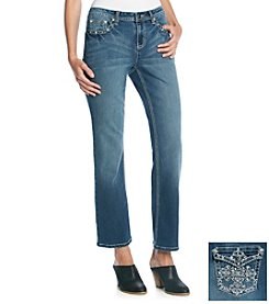 Earl Jean® Bling Cross Embroidered Jean