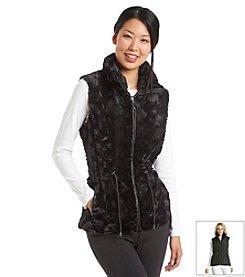 Gallery® Zipfront Faux Fur Vest