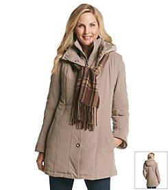Breckenridge® Snap Front Hooded Bibby Coat