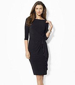 Lauren Ralph Lauren® Matte Jersey Ruffled Dress