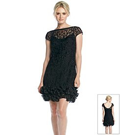 Jessica Simpson Embroidered Ruffle Dress