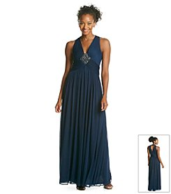 NY Collection Halter Medallion Middle Long Dress