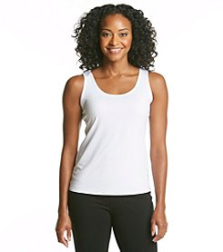 Notations® Petites' Sleeveless Scoopneck Tank