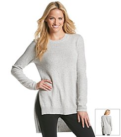 BCBGeneration™ High Low Crewneck Tunic Sweater