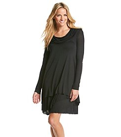 Kensie® Long Sleeve Knit Cowlneck Dress