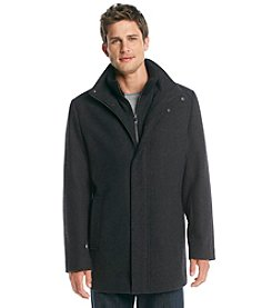 Calvin Klein Men's Wool Carcoat with Bib