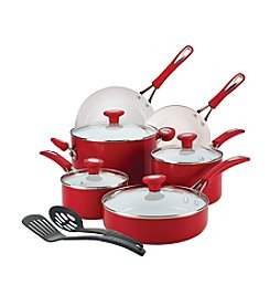 SilverStone Ceramic CXi 12-pc. Chili Red Nonstick Cookware Set + $20 Cash Back