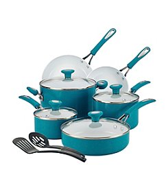 SilverStone Ceramic CXi 12-pc. Marine Blue Nonstick Cookware Set