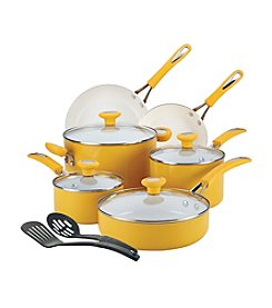 SilverStone Ceramic CXi 12-pc. Mango Yellow Nonstick Cookware Set