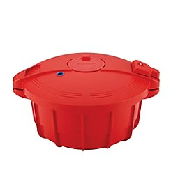 SilverStone Microwave Cookware 3.4-qt. Large Chili Red Microwave Pressure Cooker