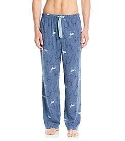 John Bartlett Statements Men's Blue Deer Print Knit Pants