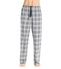 John Bartlett Statemetns Men's Grey Plaid Knit Pant