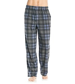 John Bartlett Statements Men's Blue & Grey Plaid Microfleece Pants