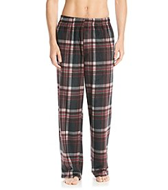 John Bartlett Statements Men's Red Multi Plaid Microfleece Pants