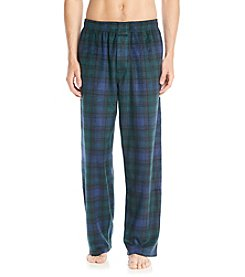 John Bartlett Statements Men's Blue & Green Plaid Microfleece Pants