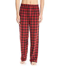 John Bartlett Statements Men's Red & Black Buffalo Plaid Microfleece Pants