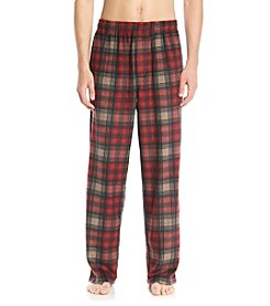 John Bartlett Statements Men's Ruff Beet Plaid Microfleece Pants