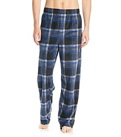 John Bartlett Statements Men's Blue Multi Plaid Microfleece Pants
