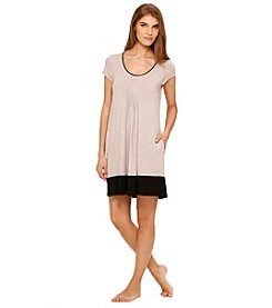 DKNY® Knit Sleepshirt - Almond Heather