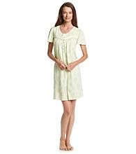 Aria® Knit Short Gown - Mint Floral