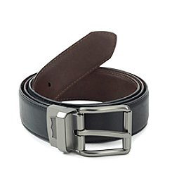 Levi's® Men's Black/Brown Big & Tall Reversible Feather Edge Leather Belt