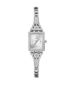 GUESS Silvertone Classic Retro Petite To Wear Alone or Layer Watch