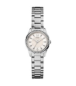GUESS Silvertone Refined Feminine Shine & Sparkle Watch