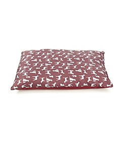 John Bartlett Pet Red Dog Print Pet Bed