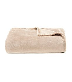 LivingQuarters Luxe Sand Plush Throw
