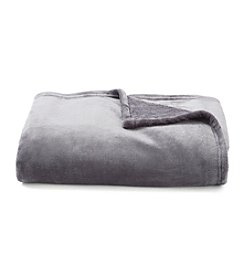 LivingQuarters Luxe Charcoal Plush Throw