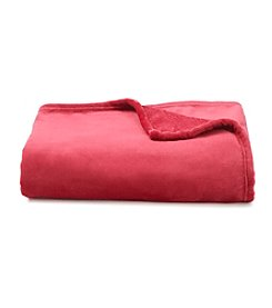 LivingQuarters Luxe Burgundy Plush Throw