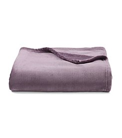 LivingQuarters Luxe Purple Plush Throw