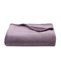 LivingQuarters Purple Luxe Plush Throw