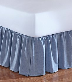 Jessica Simpson Ruched Chambray Denim Bed Skirt