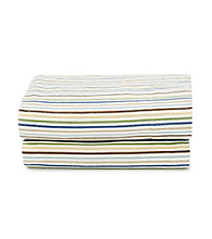 LivingQuarters Heavy-Weight Multi Color Stripe Flannel Sheet Set