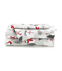 LivingQuarters Heavy-Weight Polar Bears Flannel Sheet Set