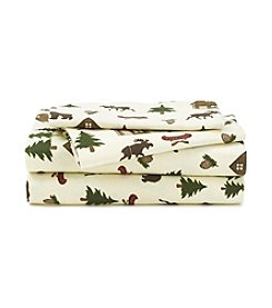 LivingQuarters Heavy-Weight Lodge Scatter Flannel Sheet Set