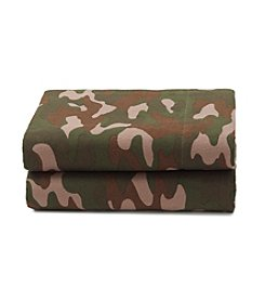 LivingQuarters Heavy-Weight Camouflage Flannel Sheet Set