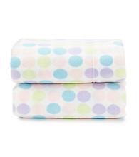 LivingQuarters Pastel Dot Fleece Sheet Set