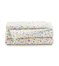 LivingQuarters Cold-Weather Performance Hearts Microfiber Sheet Set