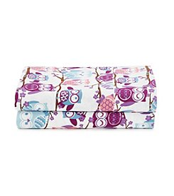 LivingQuarters Cold-Weather Performance Owls Microfiber Sheet Set