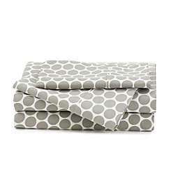 LivingQuarters Cold-Weather Performance Grey Dot Microfiber Sheet Set