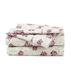 LivingQuarters Cold-Weather Performance Orchid Bouquets Microfiber Sheet Set