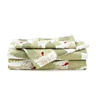 LivingQuarters Cold-Weather Performance Cardinal Scene Microfiber Sheet Set