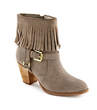 "Lauren Ralph Lauren ""Mara"" Fringe Dress Booties"