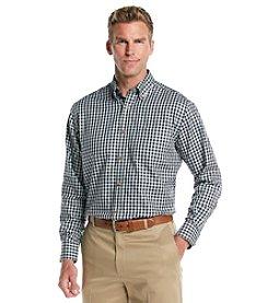 Kenneth Roberts Platinum® Men's Navy Gingham Long Sleeve Buttondown Woven Shirt